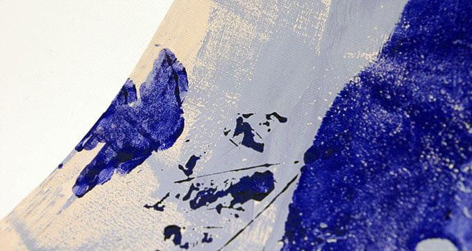 Ausschnitt eines Canvas Leinendrucks der Officina Fotografica